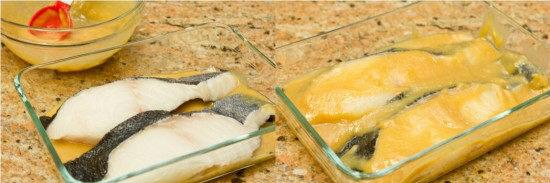 ngâm cá tuyết với sốt miso